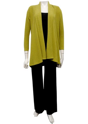 SOLD OUT - LIME - Vera swing knit jacket