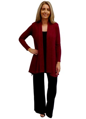 LIMITED STOCK - RED - Vera swing knit jacket