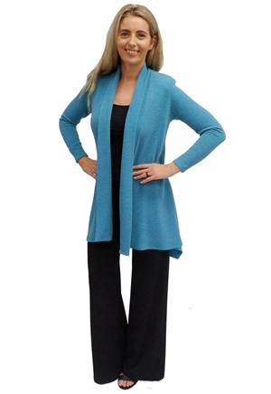 LIMITED STOCK - TEAL - Vera swing knit jacket