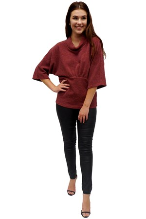 BURGANDY - Stephanie throw over top