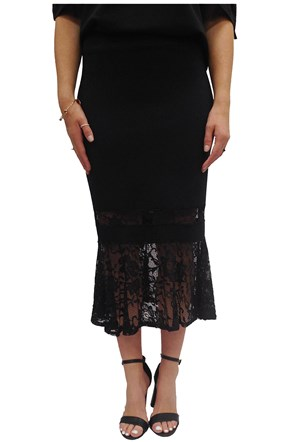 Kattie ponti and lace skirt