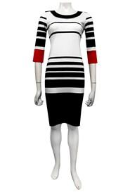 Jo stripe ponti dress