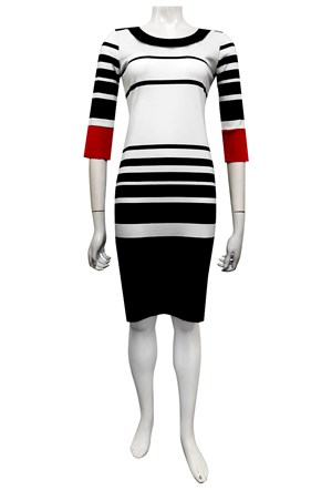 Jo stripe ponti dress