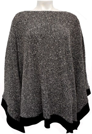 GREY - Winter poncho