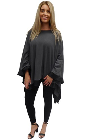 CHARCOAL - Winter poncho
