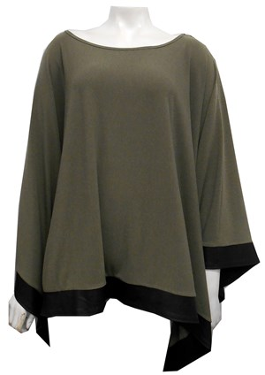 KHAKI - Winter poncho