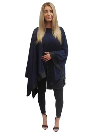 NAVY - Winter poncho
