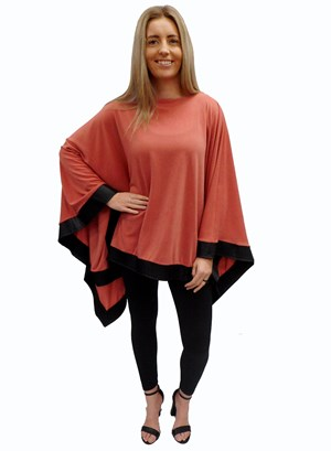 PEACH - Winter poncho