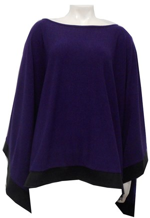 PURPLE - Winter poncho