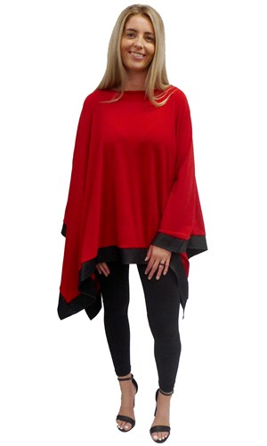 RED - Winter poncho