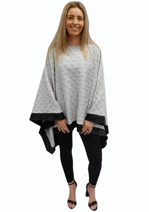 GREY SPOT - Winter poncho