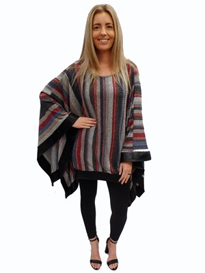 STRIPE - Winter poncho