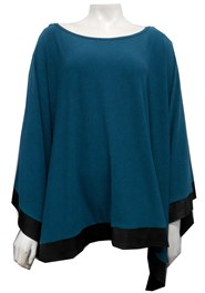 TEAL - Winter poncho