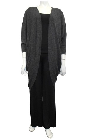 CHARCOAL - Kerry cocoon shrug
