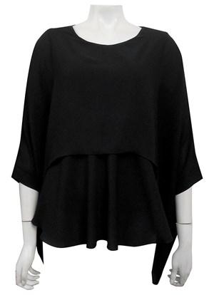 BLACK - Ellen DG overlay top