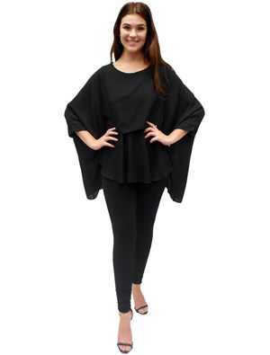 BLACK - Ellen DG overlay top