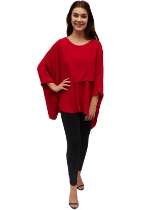 SOLD OUT - RED - Ellen DG overlay top