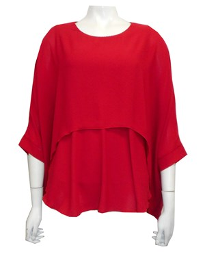 RED - Ellen DG overlay top