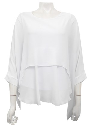 LIMITED STOCK - WHITE - Ellen DG overlay top