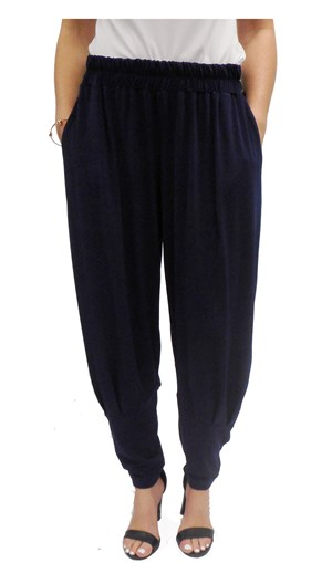 NAVY - Kim soft knit baggy pant