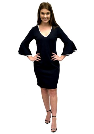 LIMITED STOCK - Mary contrast piped dress