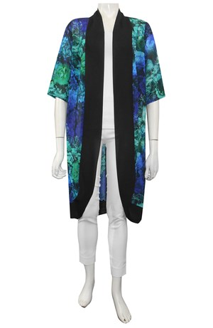 Christine long chiffon jacket