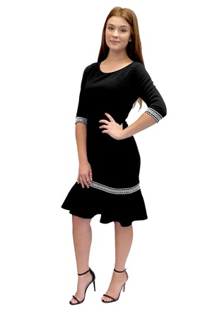 LIMITED STOCK - Tracey dress with embroidered trim