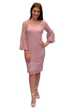 DUSTY PINK - Donna lace dress