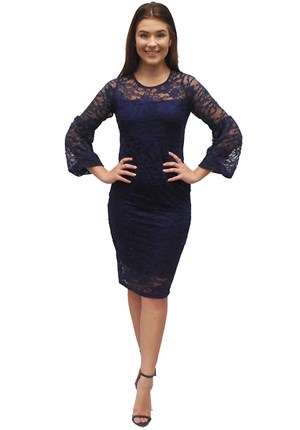 NAVY - Donna lace dress