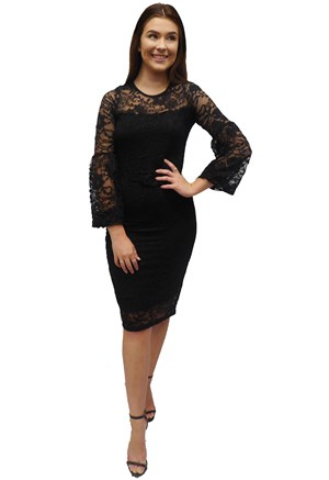 BLACK - Donna lace dress