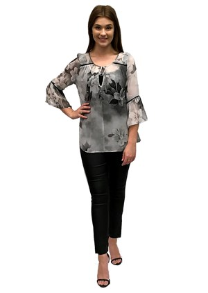 SOLD OUT - Bailey chiffon top with tail