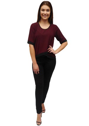 PLUM - Zoe contrast top