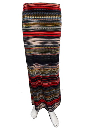 PRINT 605 - Ann printed maxi skirt with side splits