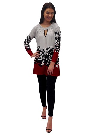 Beryl long sleeve tunic