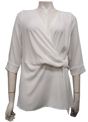 IVORY - Louise tunic top with tie