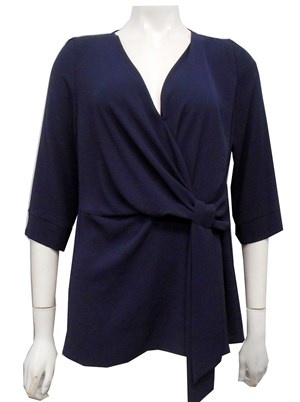 NAVY - Louise tunic top with tie