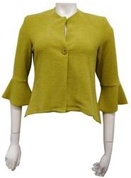 LIME - Paula high low jacket with flare sleeve
