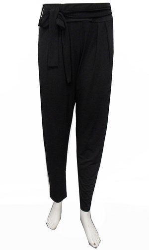 LIMITED STOCK - BLACK - Karla soft knit pants with tie