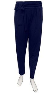 NAVY - Karla soft knit pant with tie