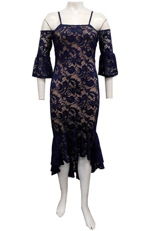 LIMITED STOCK - NAVY - Celesta lace dress
