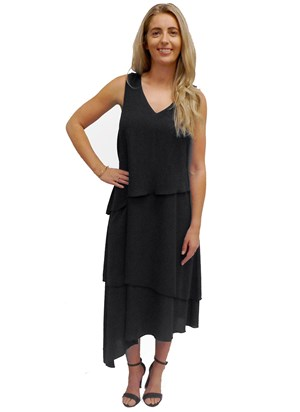 BLACK - Kate layered dress