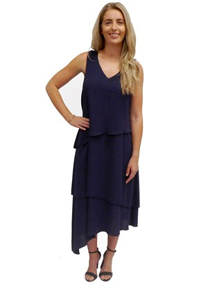 NAVY - Kate layered dress