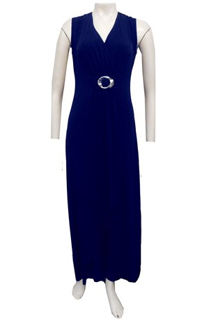 NAVY - Shirley dress with ring detail