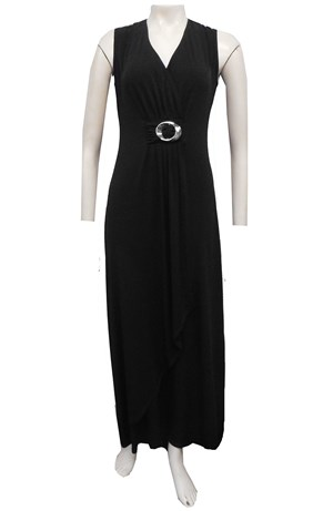 BLACK - Shirley dress with ring detail