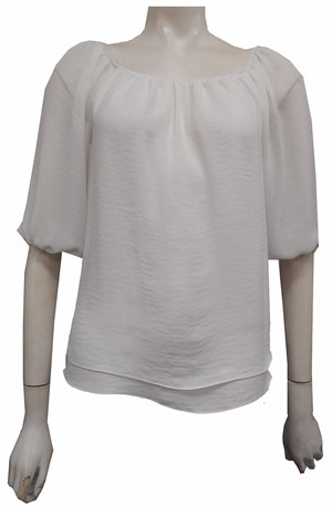 WHITE - Lola double layer top