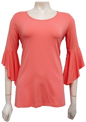 PINK - Amelia frill sleeve top
