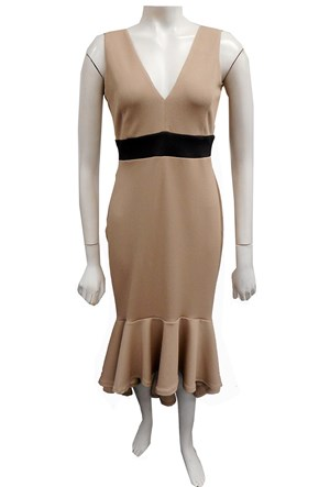 COMING SOON - BEIGE - Jacinta contrast band dress