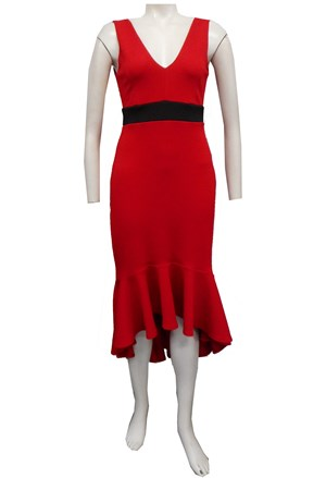 RED - Jacinta contrast band dress