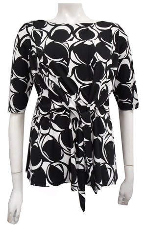 LIMITED STOCK - PRINT 505 - Penny tie front top