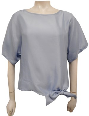 ICE BLUE - Jamie tie front top